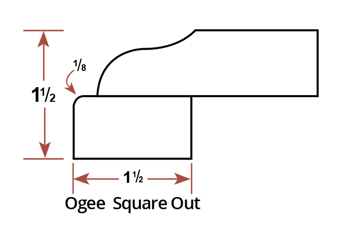 Ogee  Square Out